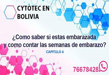 contar semanas de embarazo Cytotec Bolivia