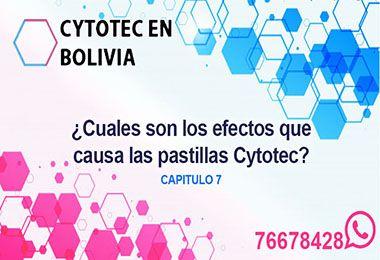 Efectos del Cytotec Bolivia